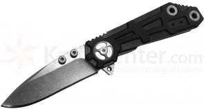 Quartermaster Knives QTRM5TR QTR-6 Pre-Production Orville  inchRick inch Wright 3 inch Drop Point Blade, G10 Handle