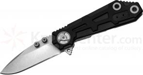 Quartermaster QTR-6 Orville  inchRick inch Wright 3 inch Drop Point Blade, G10 and Stainless Steel Handles