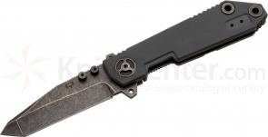 Quartermaster QTR-8TT Texas Tea John Quayle  inchHiggins inch III 3.5 inch Black Stonewashed Tanto Blade, G10 Handle