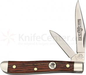 Queen Curly Zebra African Hardwood #14CZ Peanut, 2.25 inch Closed, D2 Steel Blade