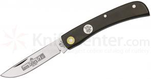 Queen Country Cousin D2 Blade Sodbuster 3 5/8 inch Closed, Linen Micarta Handle