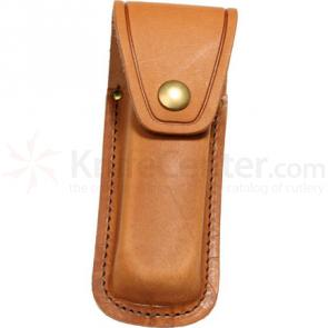 Queen Brown Leather Sheath for Large Folders, Fits 4 1/8 inch to 5-1/4 inch