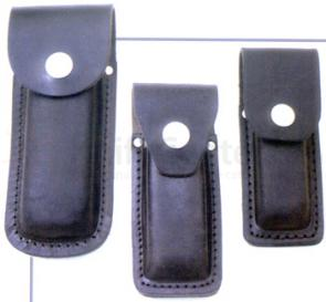 Queen Black Leather Sheath for Small Folders, Fits 3 inch to 3 5/8 inch
