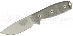 ESEE Knives ESEE-3P-MB-DT Desert Tan Plain Edge, OD Green Sheath, MOLLE Back and Clip Plate