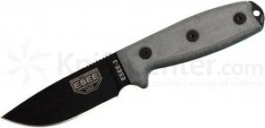 ESEE Knives ESEE-3PM Plain Edge, Rounded Pommel, Coyote Brown Sheath, Clip Plate, Paracord