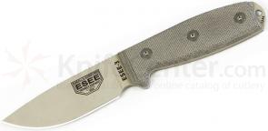 ESEE Knives ESEE-3PM-DT Desert Tan Plain Edge, Rounded Pommel, FG Sheath, Clip Plate, Paracord
