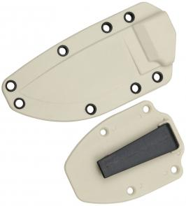 ESEE Knives ESEE-3 Molded Sheath with Clip Plate, Desert Tan