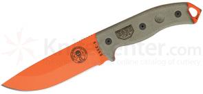 ESEE Knives ESEE-5 Fixed 5.25 inch Orange Blade, Canvas Green Handles, Black Sheath