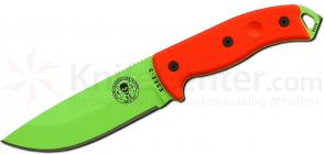ESEE Knives ESEE-5P-VG Venom Green Plain Edge, Black Sheath, Clip Plate