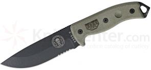 ESEE Knives ESEE-5S Black Combo Edge, Black Sheath, Clip Plate