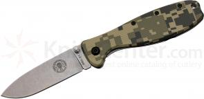 Zancudo Folding Knife 3 inch Stonewashed Blade, Digital Camo FRN and Stainless Steel Handles, KC Exclusive, Designed by ESEE