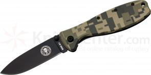 Zancudo Folding Knife 3 inch Black Blade, Digital Camo FRN and Stainless Steel Handles, KnifeCenter Exclusive, Designed by ESEE