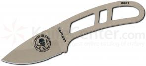 ESEE Knives CAN-DT Candiru Utility Knife 2 inch Blade, Desert Tan, Cordura Sheath