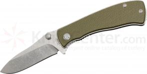 Red Blade Knives Pig Gen2 Folding Knife 3-5/16 inch S30V Blade, OD Green G10 Handles