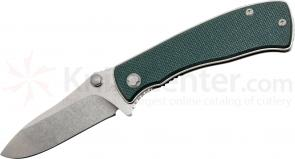 Red Blade Knives Pig Gen2 Folding Knife 3-5/16 inch S30V Blade, Ranger Green G10 Handles