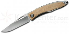Chris Reeve Mnandi Folding Knife 2.75 inch S35VN Blade, Titanium Handles with Mammoth Bark Inlays