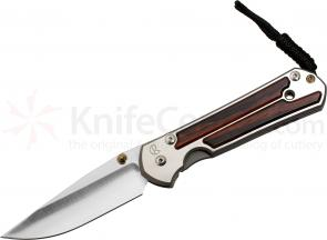 Chris Reeve Large Sebenza 21 Cocobolo Inlays 3.625 inch S35VN Blade, Titanium Handles