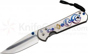 Chris Reeve Large Sebenza 21 Crop Circles CGG 3.625 inch S35VN Blade, Titanium Handles