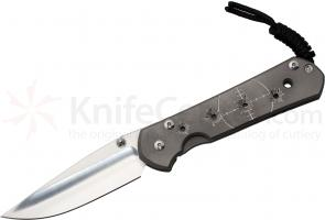 Chris Reeve Large Sebenza 21 Riddled CGG 3.625 inch S35VN Blade, Titanium Handles DISCONTINUED VERSION, LIMITED AVAILABILITY