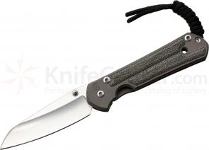 Chris Reeve Small Sebenza 21, 2.94 inch S35VN Insingo Blade, Titanium w/ Black Canvas Micarta Inlaid