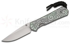 Chris Reeve Small Sebenza 21 Paisley CGG Folding Knife 2.94 inch S35VN Stonewashed Blade, Milled Titanium Handles