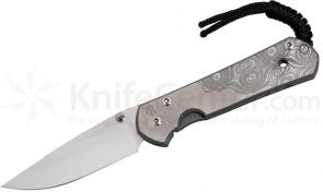 Chris Reeve Small Sebenza 21 Raindrop CGG 2.94 inch S35VN Blade, Leather Pouch DISCONTINUED VERSION, LIMITED AVAILABILITY
