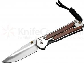 Chris Reeve Small Sebenza 21 Snakewood Inlays 2.94 inch S35VN Blade, Titanium Handles