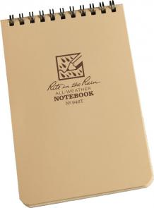Rite in the Rain Universal Polydura Tactical Pocket Notebook, 4 inch x 6 inch, Tan
