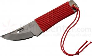 Rockstead CHOU-B Japanese Neck Knife 1.875 inch YXR7 DLC Polished Blade, Red Silk Wrapped Handle, Kydex Sheath