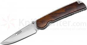 Rockstead HIGO-X-IW-ZDP Japanese Folding Knife 3.5 inch ZDP-189 Mirror Finish Blade, Ironwood Handles