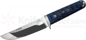 Rockstead UN-ZDP Japanese Fixed 5.5 inch ZDP-189/VG10 Clad Mirror Finish Blade, Blue Tetsukon Silk Wrapped Handle