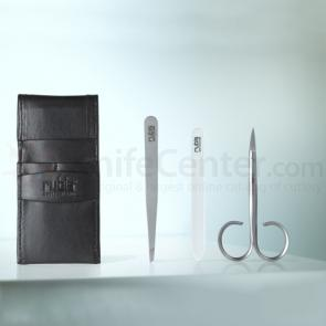 Rubis Swiss Made 3 Piece Deluxe Manicure Set in Leather Case (1K400)