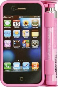 Sabre Smart Guard Pepper Spray iPhone 3 and 4 Case, Pink