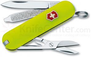 Victorinox Swiss Army Classic SD Multi-Tool, Stayglow Yellow, 2-1/4 inch Closed