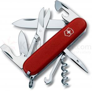 Victorinox Swiss Army Climber Multi-Tool, 3-1/2 inch Red Handles