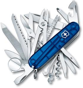 Victorinox Swiss Army SwissChamp Multi-Tool, Translucent Sapphire, 3.58 inch Closed