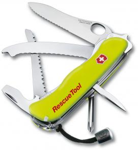 Victorinox Swiss Army Rescue Tool Multi-Tool, 4-3/8 inch Yellow Handles