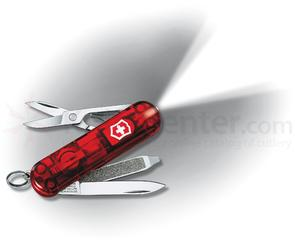 Victorinox Swiss Army SwissLite Multi-Tool with LED, Translucent Ruby, 2.28 inch Closed