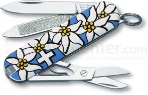 Victorinox Swiss Army Classic SD Multi-Tool, Blue Edelweiss, 2-1/4 inch Closed