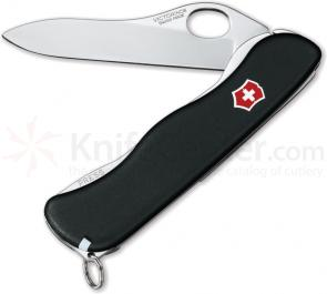 Victorinox Swiss Army One-Hand Sentinel Non-Serrated Multi-Tool, Black, 4.37 inch Closed