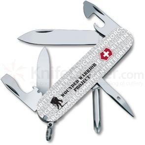 Victorinox Swiss Army Wounded Warrior Project Tinker Multi-Tool, Gray Jargon, 3.58 inch Closed