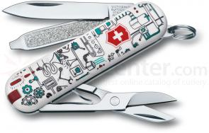 Victorinox Swiss Army 2013 Contest Classic Multi-Tool, Iron Factory, 2-1/4 inch Closed (0.6223.L1302US1)