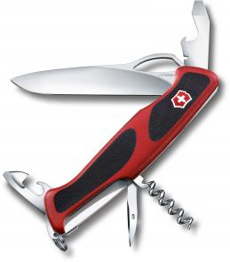 Victorinox Swiss Army RangerGrip 61 Multi-Tool 5-1/8 inch Red Handles with Black Rubber Inserts (0.9553.MC)