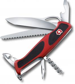 Victorinox Swiss Army RangerGrip 79 Multi-Tool 5-1/8 inch Red and Black Handles