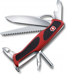 Victorinox Swiss Army RangerGrip 78 Multi-Tool 5-1/8 inch Red Handles with Black Rubber Inserts