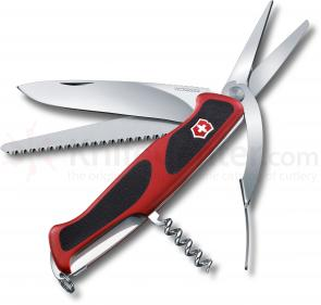 Victorinox Swiss Army RangerGrip 71 Gerdener Multi-Tool 5-1/8 inch Red Handles with Black Rubber Inserts