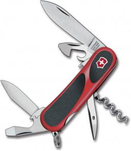 Victorinox Swiss Army 2.3603.SC Locking EvoGrip S101 Multi-Tool 3-3/8 inch Red Handles with Black Rubber Inserts