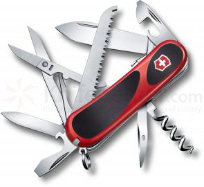Victorinox Swiss Army 2.3913.SC Locking EvoGrip S17 Multi-Tool 3-3/8 inch Red Handles with Black Rubber Inserts