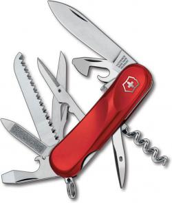 Victorinox Swiss Army 2.3913.SE Locking Evolution S17 Multi-Tool 3-3/8 inch Red Handles