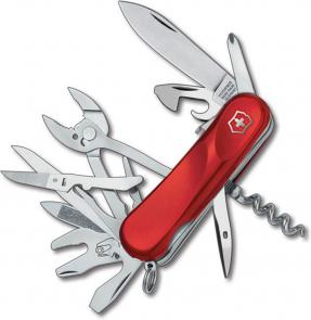 Victorinox Swiss Army 2.5223.SE Locking Evolution S557 Multi-Tool 3-3/8 inch Red Handles